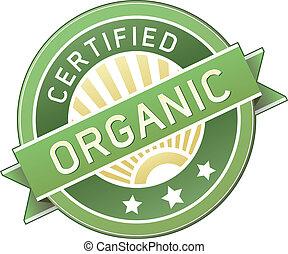 alimento, produto, orgânica, ou, etiqueta