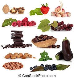 alimento saudável, amostra