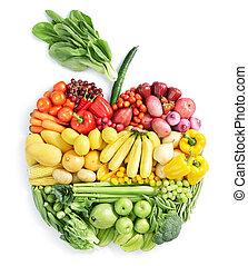 alimento saudável, apple: