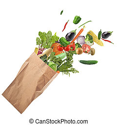 alimento saudável, branca, isolado, fundo