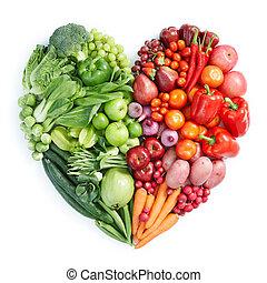 alimento saudável, verde vermelho