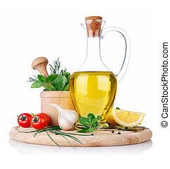 alimento, tempero, jogo, cozinhando ingredientes