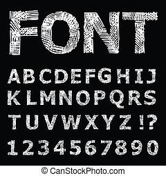 alphabet., grunge