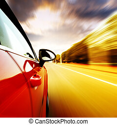 alta velocidade, car, noturna