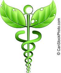 alternativa, vetorial, símbolo, medicina