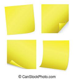 amarela, correspondência-isto