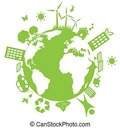 ambiental, terra verde