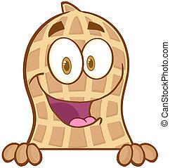 amendoim, sobre, sinal