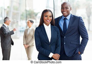 americano, africano, businesspeople, jovem
