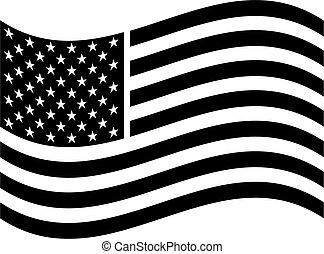 americano, arte, bandeira, clip