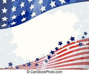americano, fundo, fluir