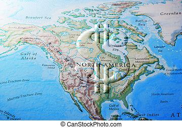 americano, norte, economia