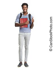 americano, student., africano