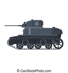 americano, vetorial, arma, tank., vista, luz, silueta, símbolo, tanque, 2, lado, exército, mundo, guerra, ilustração, batalha, militar, isolado, stuart, m3, máquina, icon., guerra
