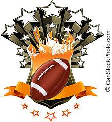 americano, vetorial, emblema, futebol