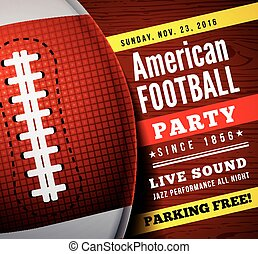 americano, vetorial, partido., fundo, futebol