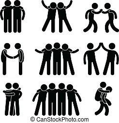 amizade, amigo, relacionamento, equipe
