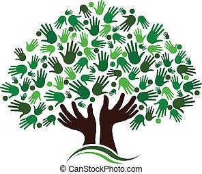 amizade, conexão, árvore, image.