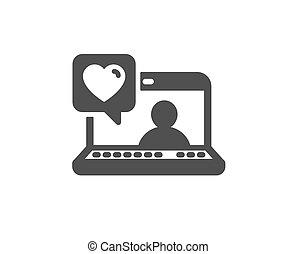 amor, amizade, sinal., business., vetorial, conversa, icon., amigos, assistência