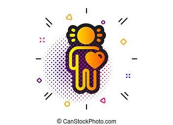 amor, assistência, business., vetorial, amigo, amizade, sinal., icon.