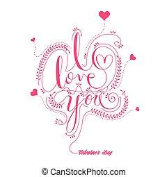amor, caligrafia, tu, desenho