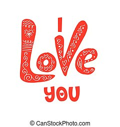 amor, modernos, mão, calligraphy., tu, lettering.