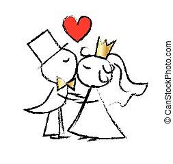 amor, par casando