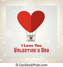 amor, valentine, vetorial, tu, meu, cartão