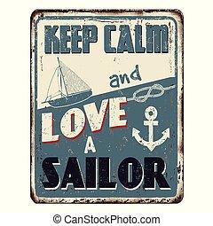 amor, vindima, metal, marinheiro, mantenha, enferrujado, pacata, sinal