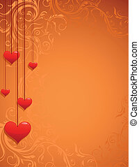 amor, vindima, quadro, experiência., vetorial, ornate