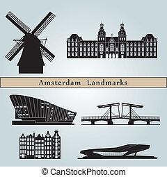 amsterdão, marcos, monumentos