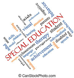 angled, conceito, palavra, especiais, educação, nuvem
