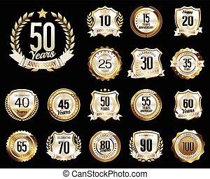 aniversário, emblemas