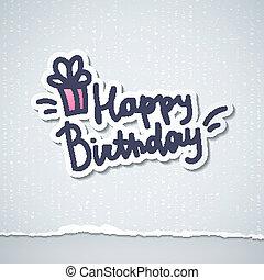 aniversário, feliz