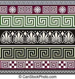 antigüidade, grego, jogo, ornamentos