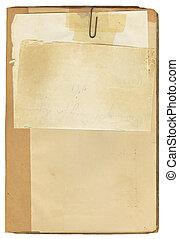 antigüidade, livro nota, papel