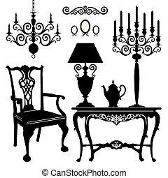 antigüidade, mobília
