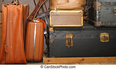 antigas, bagagem