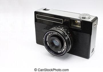 antigas, câmera, soviético, cima fim
