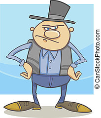 antigas, caricatura, ilustração, agricultor