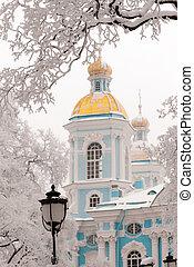 antigas, inverno, catedral