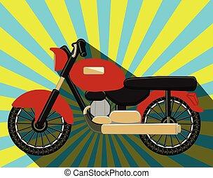 antigas, motocicletas, formado