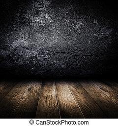 antigas, parede, floor., concreto, desenho, madeira, template.