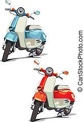 antiquado, scooter