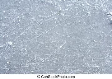 ao ar livre, patim gelo, superfície, rink, marcas