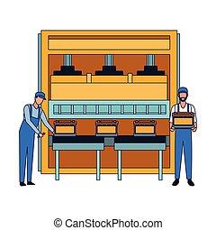 apartamento, baterias, car, desenho, máquina, mecanica