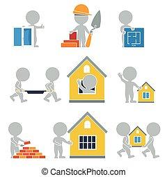 apartamento, construção, -, pessoas