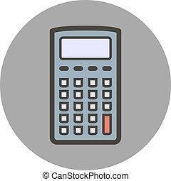 apartamento, estilo, calculator., vetorial