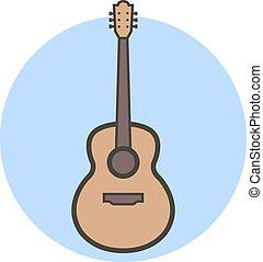 apartamento, estilo, guitar., vetorial