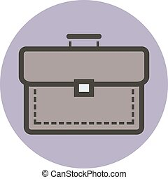 apartamento, estilo, negócio, vetorial, briefcase.